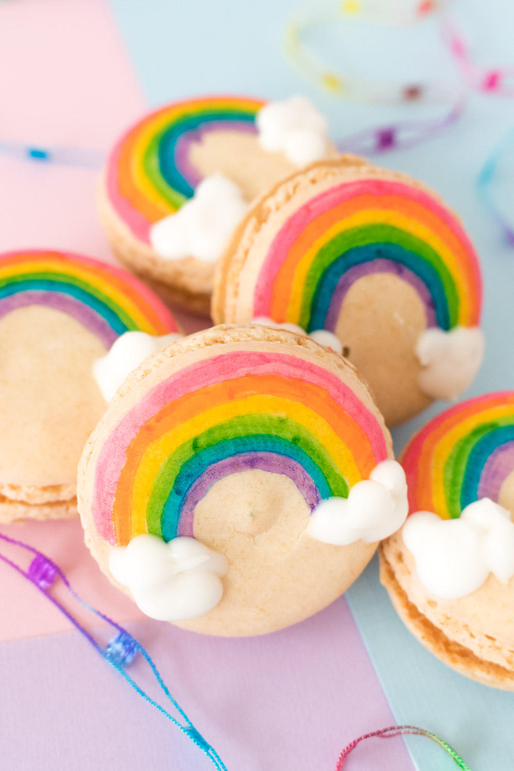 Painted Rainbow Macarons | Club Crafted