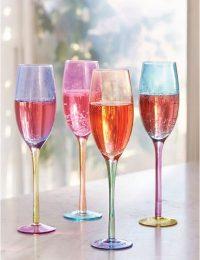 Colorblock Flute Glasses