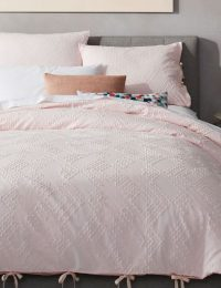 Crisscross Blush Duvet Cover