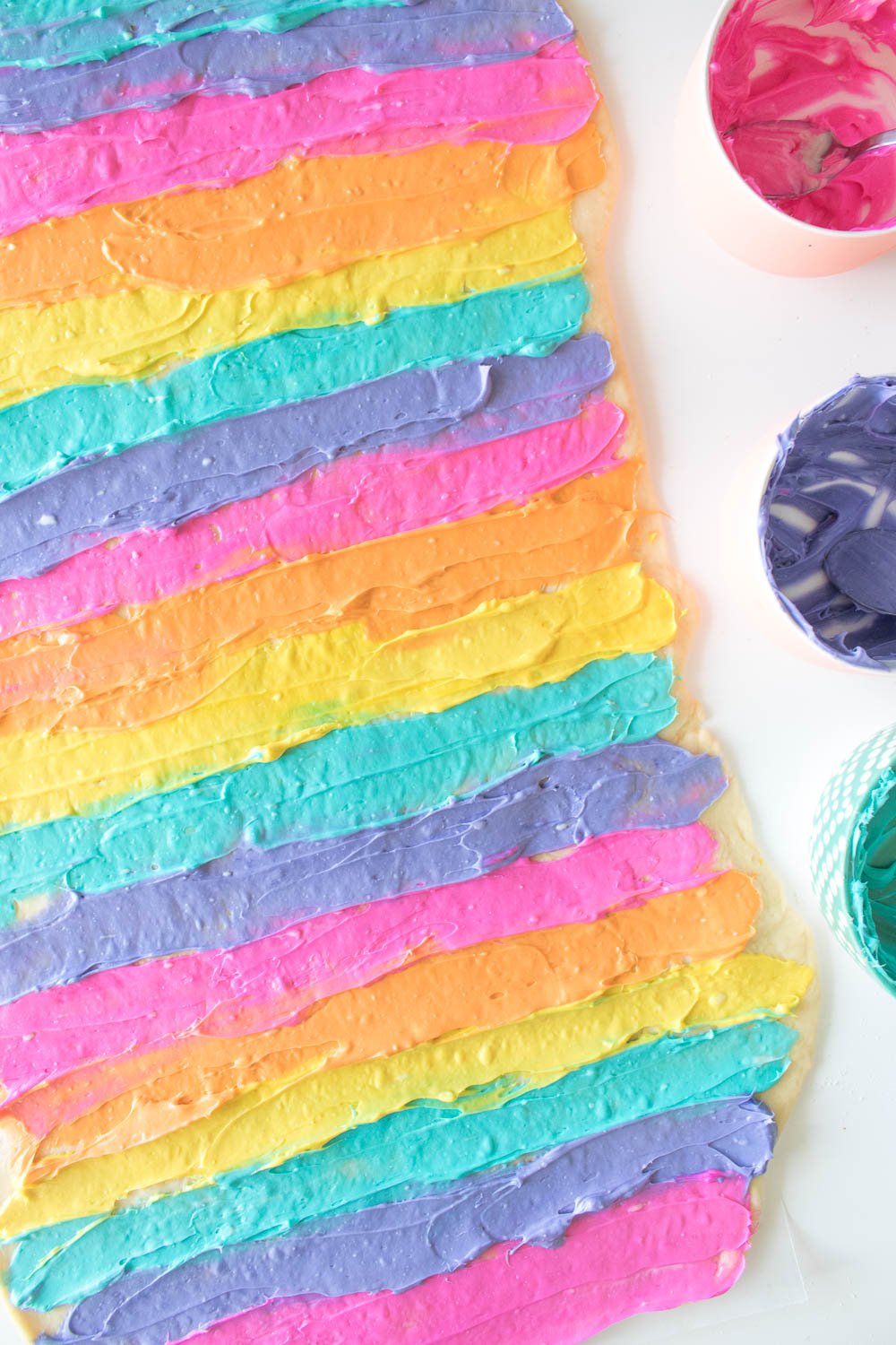 Lemon Cream Cheese Rainbow Sweet Rolls | Club Crafted