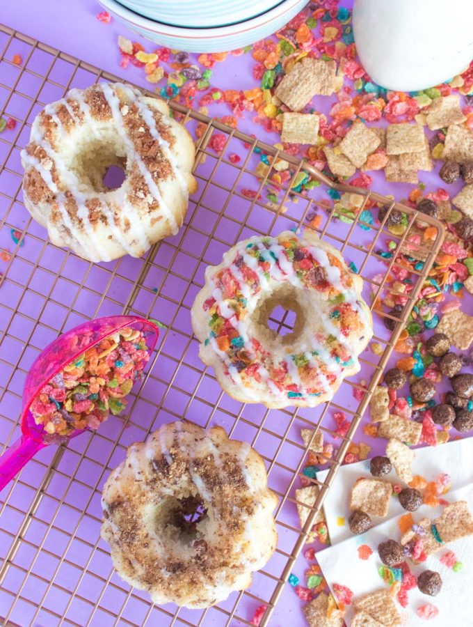 Mini Breakfast Cereal Bunt Cakes | Club Crafted