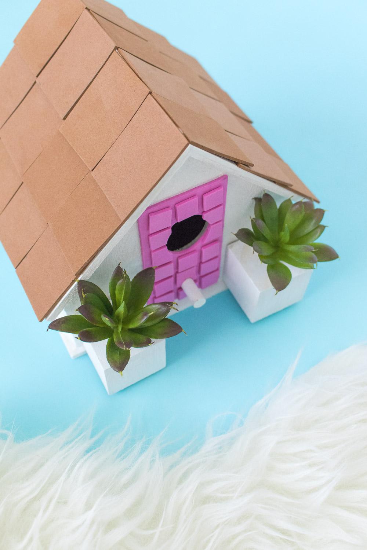 #thatpinkdoor DIY Palm Springs Birdhouse   Club Crafted