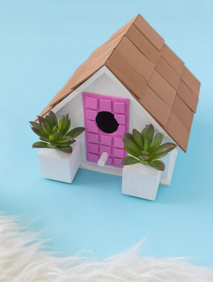 #ThatPinkDoor DIY Palm Springs Birdhouse