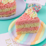 Cake Slice Rice Krispies Treats