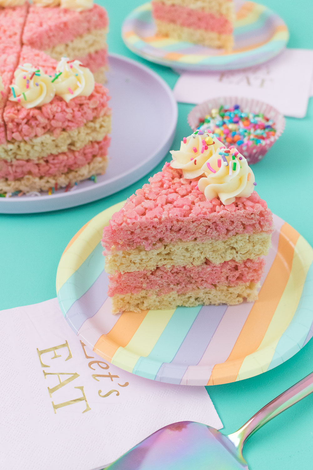 Cake Slice Rice Krispies Treats | Club Crafted