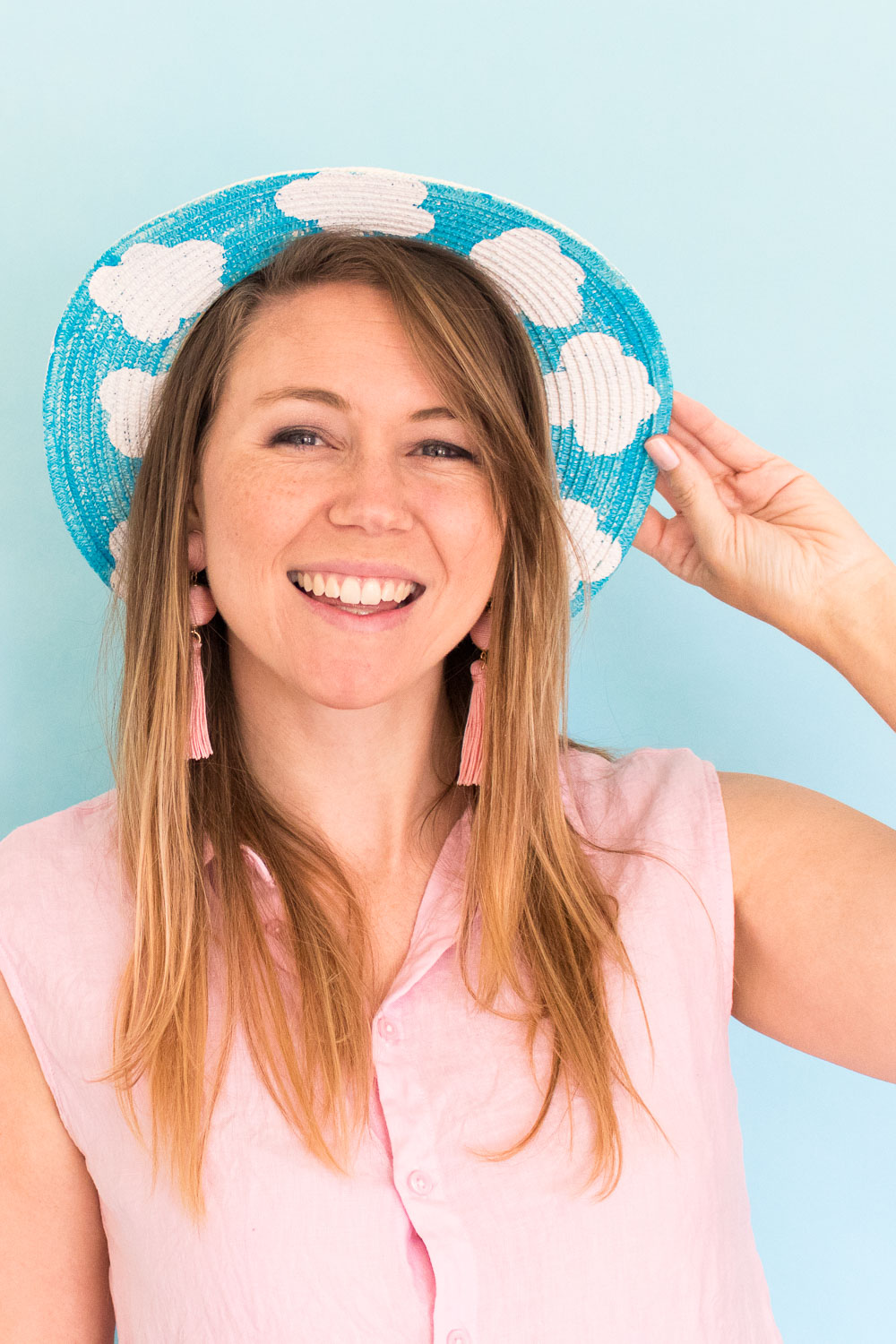 DIY Clouds Sun Hat | Club Crafted