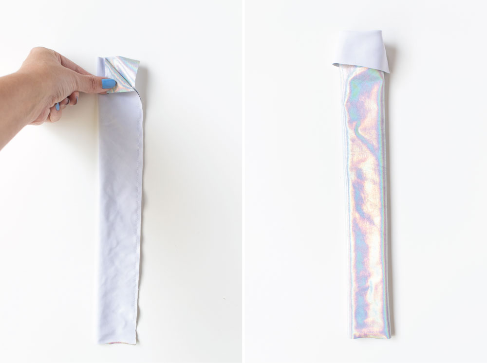 Throwback! How to Sew Holographic Scrunchies   Club Crafted
