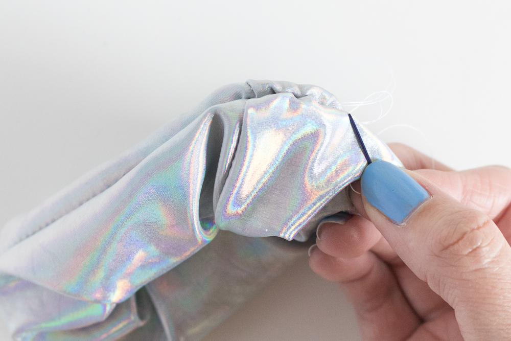 Throwback! How to Sew Holographic Scrunchies | Club Crafted
