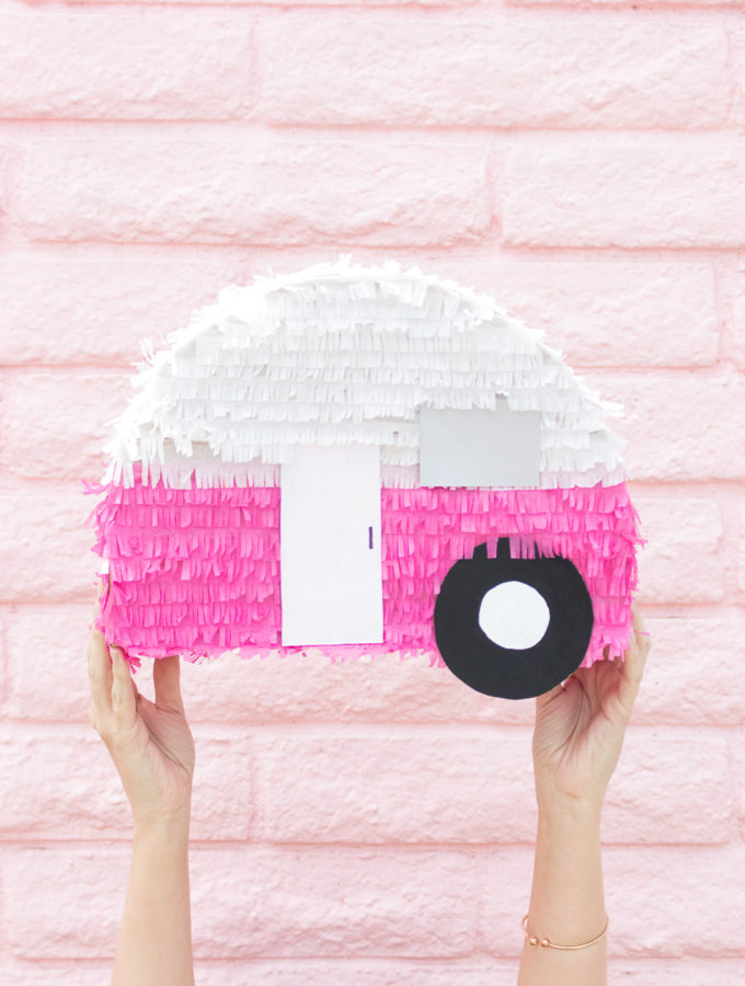 DIY Retro Camper Piñata | Club Crafted