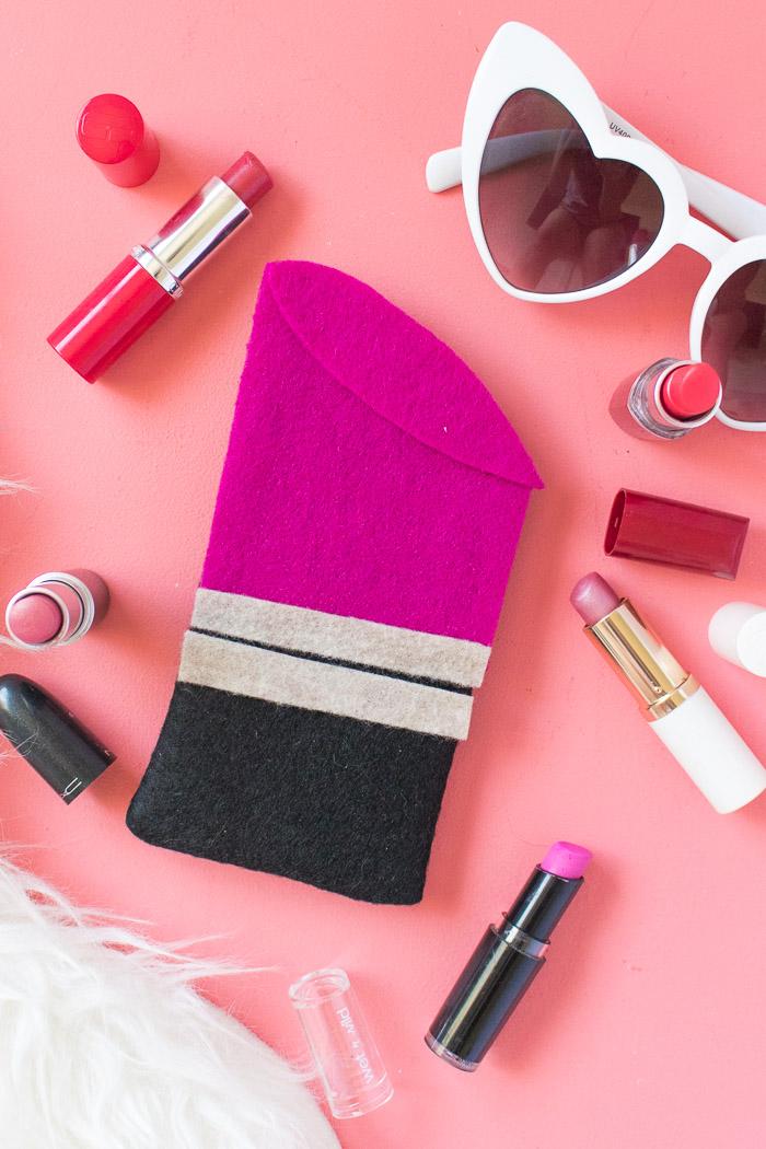 DIY Lipstick Sunglasses Case | Club Crafted