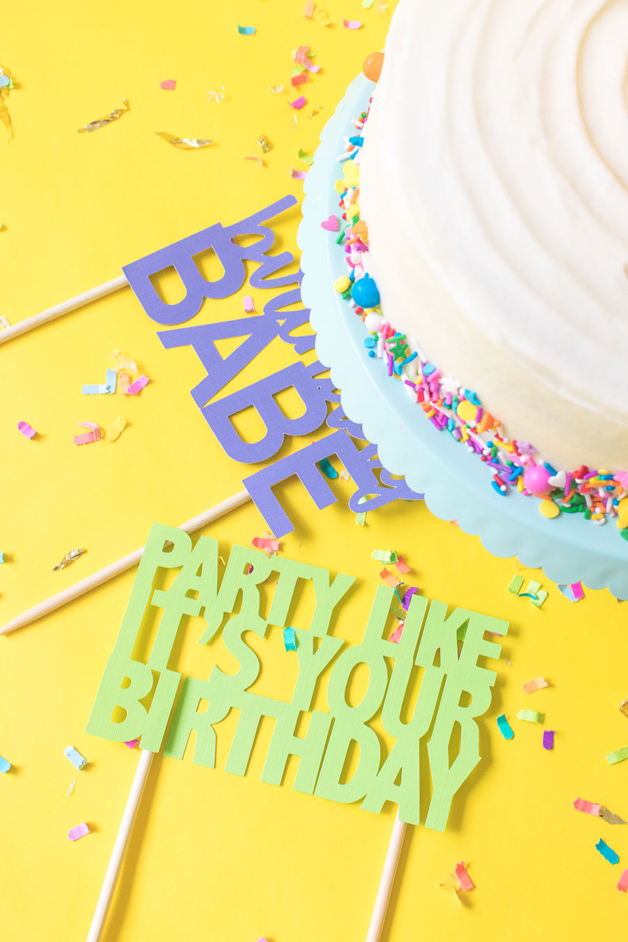 picture relating to Printable Cake Topper Templates known as Printable Cake Toppers for Birthdays (+ Totally free SVG Templates!)