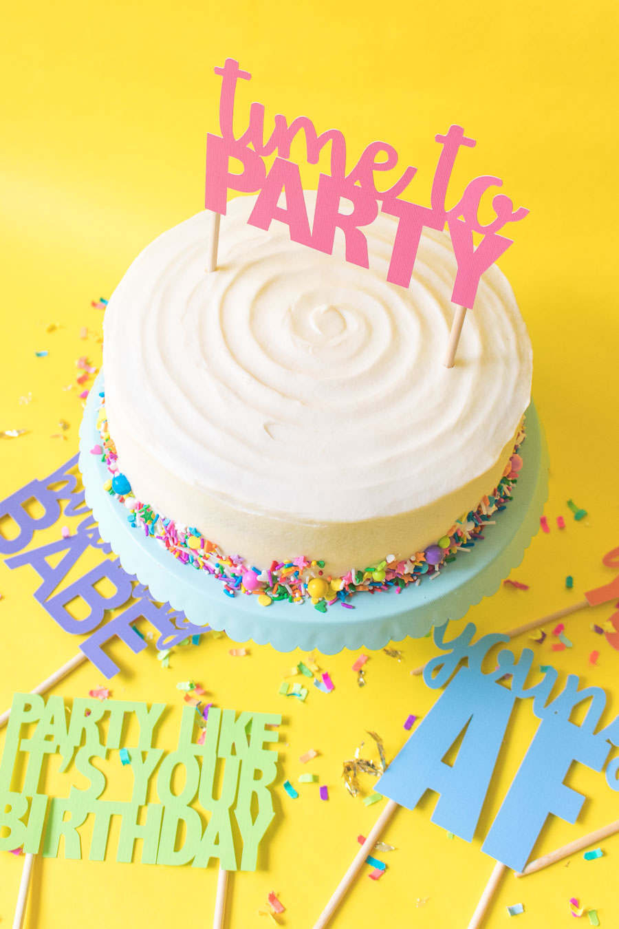 image about Birthday Cake Template Printable identified as Printable Cake Toppers for Birthdays (+ Cost-free SVG Templates!)