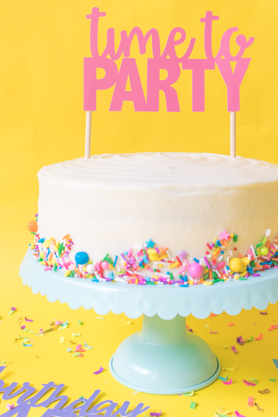 image about Birthday Cake Printable known as Printable Cake Toppers for Birthdays (+ Totally free SVG Templates!)