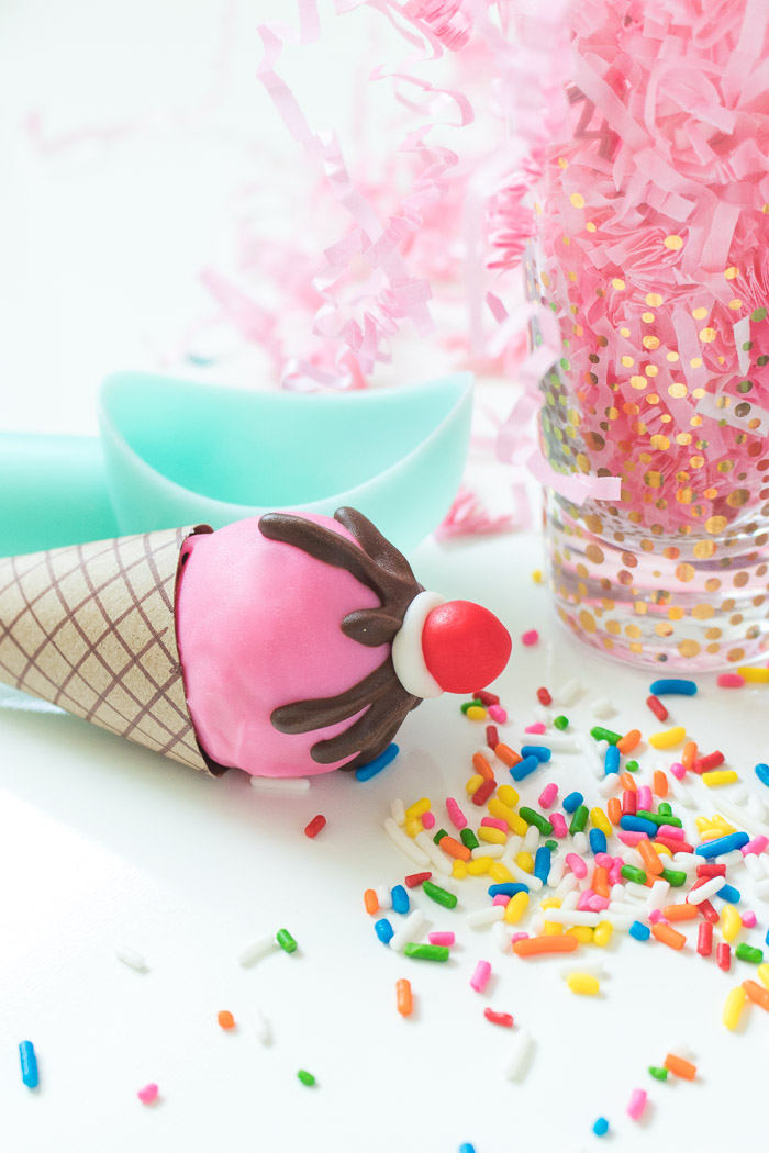 Ice Cream Cone Cake Pops | Club Crafted
