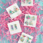 DIY 80s-Inspired Splatter Paint Earrings