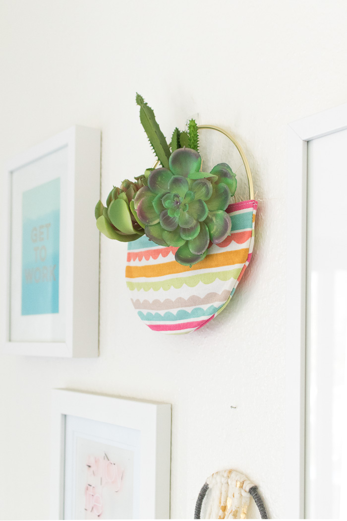 DIY Fabric Pocket Planter | Club Crafted
