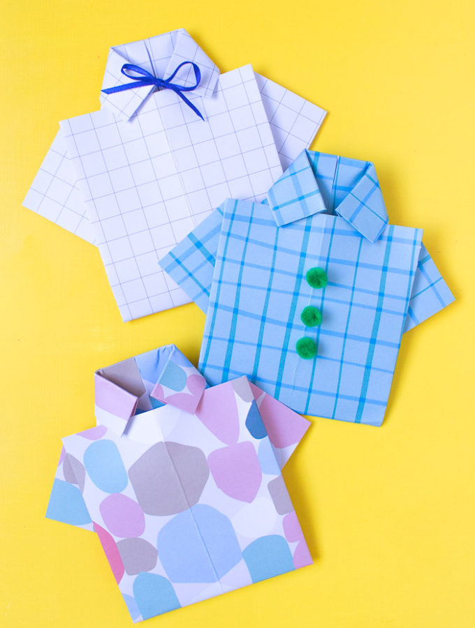 DIY Origami Paper Shirt Card for Father's Day | Club Crafted
