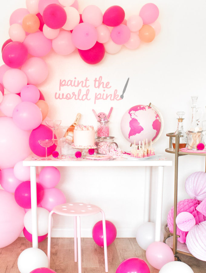 Paint the World Pink Party   Club Crafted