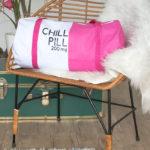 DIY Chill Pill Duffel Bag (Gym Bag)