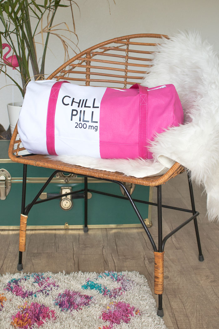 DIY Chill Pill Duffle Bag (Gym Bag) | Club Crafted