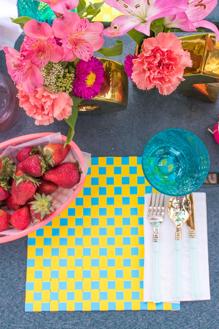 DIY Woven Paper Placemats for Summer | Club Crafted