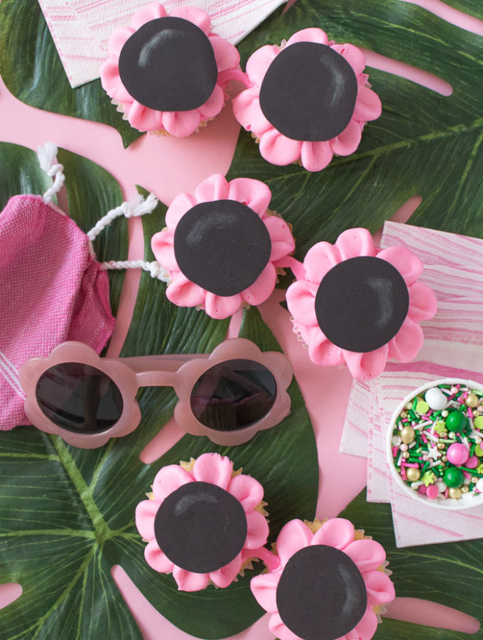 Floral Sunglasses Cupcakes