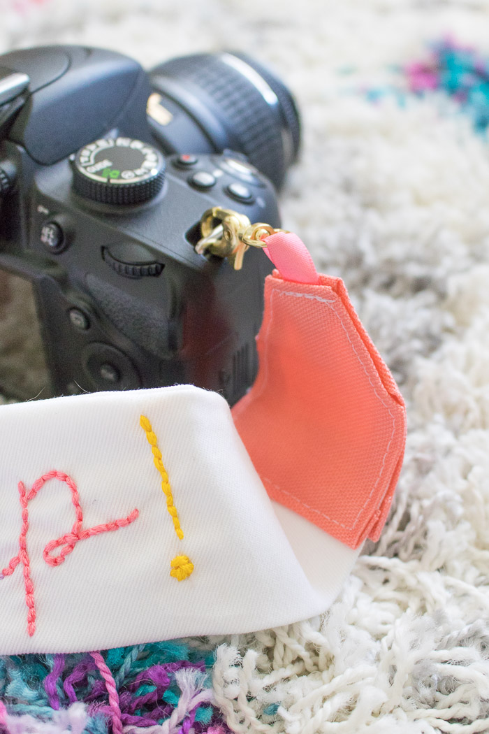 How to Sew a Hand Embroidered Camera Strap | Club Crafted