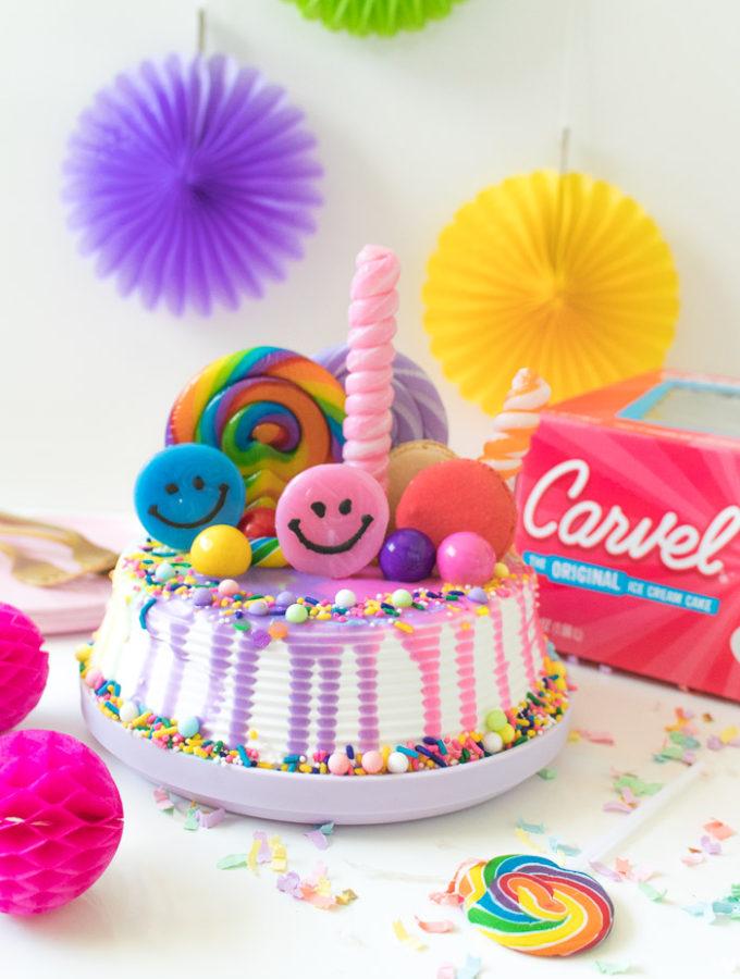 Rainbow Freak Cake Ice Cream Cake Hack | Club Crafted