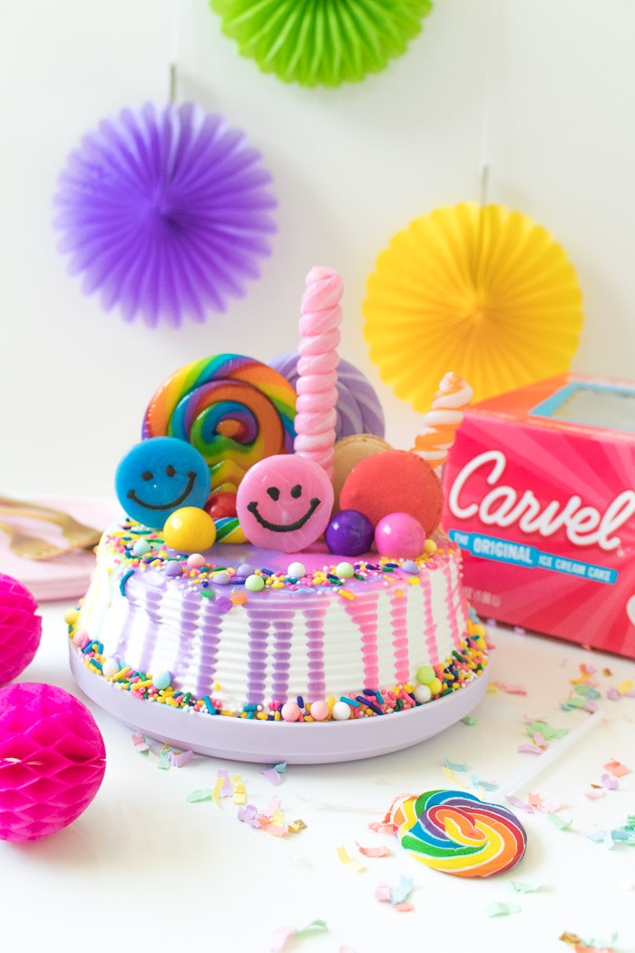 Rainbow Freak Cake Ice Cream Cake Hack | Club Crafted