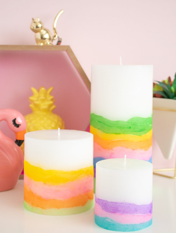 DIY Sand Art Candles
