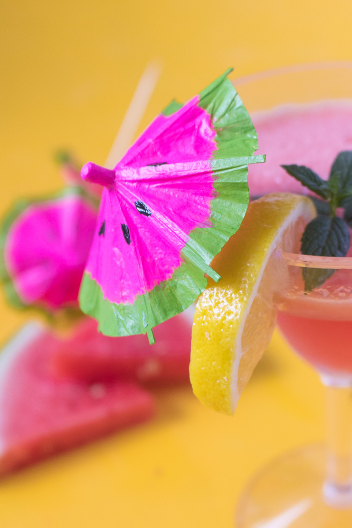DIY Watermelon Drink Umbrellas | Club Crafted