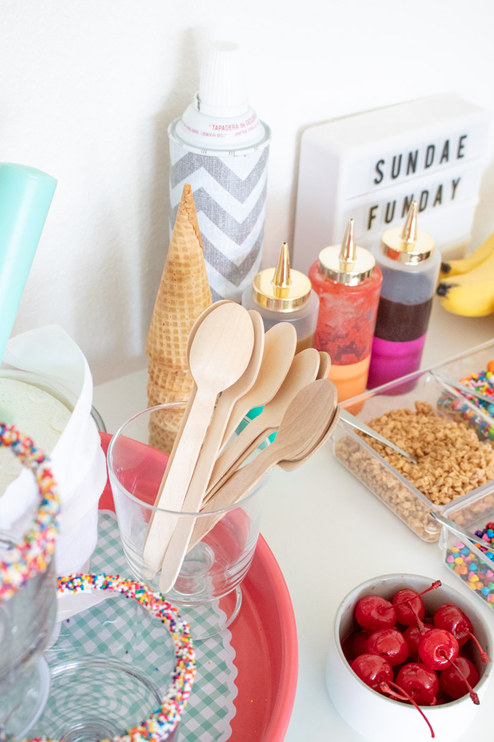 How to Make a Colorful Ice Cream Sundae Bar | Club Crafted