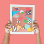 DIY Easy Abstract 80s Wall Art