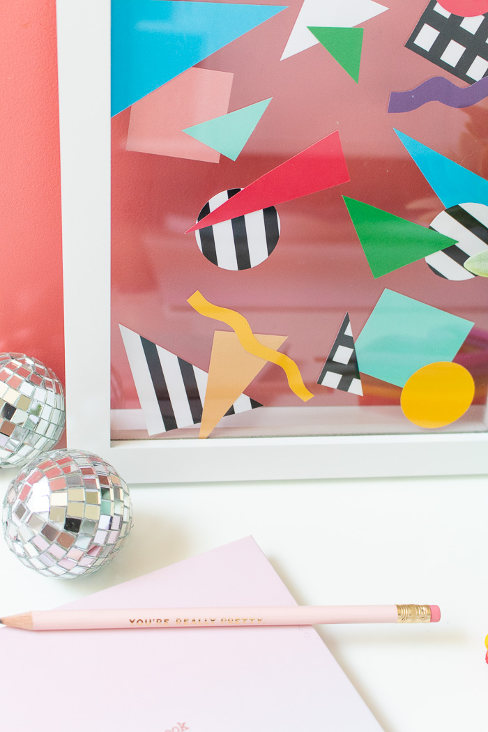 DIY Easy Abstract 80s Wall Art | Club Crafted