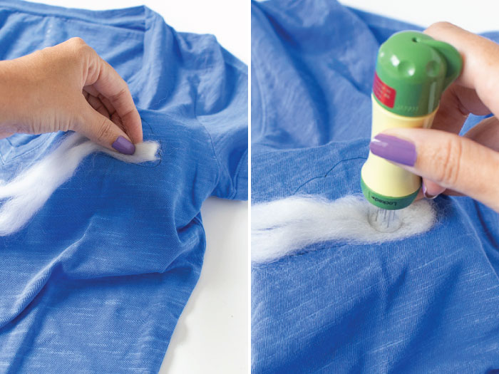 DIY Needle Felted Cloud T-Shirt | Club Crafted