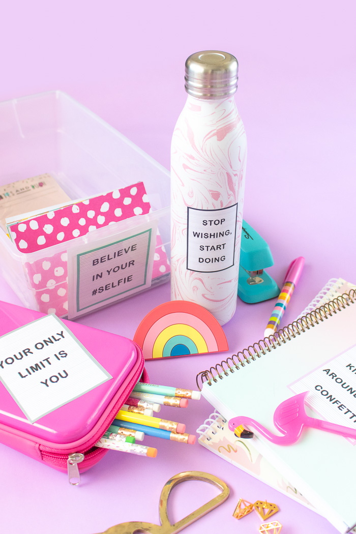 Printable Letterboard Stickers Perfect for Back-to-School | Club Crafted