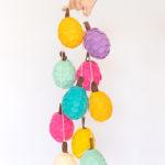DIY Colorful Felt Pinecones