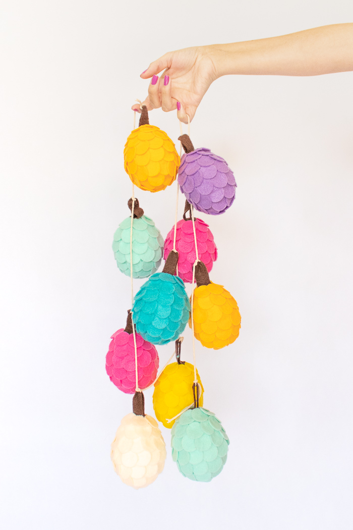 DIY Colorful Felt Pinecones | Club Crafted