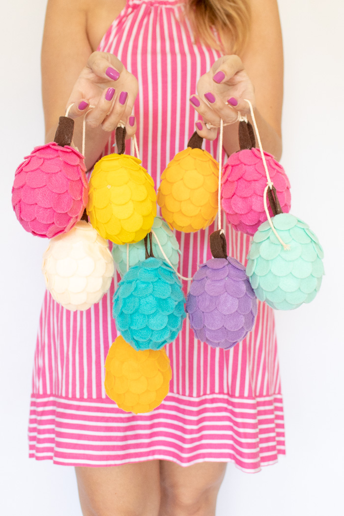 DIY Colorful Felt Pinecones | Club Crafted