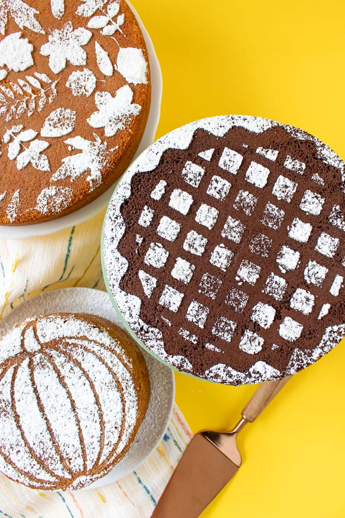 Fall Cake Stencils with Templates (+ 3 Ways to Use Them!) | Club Crafted