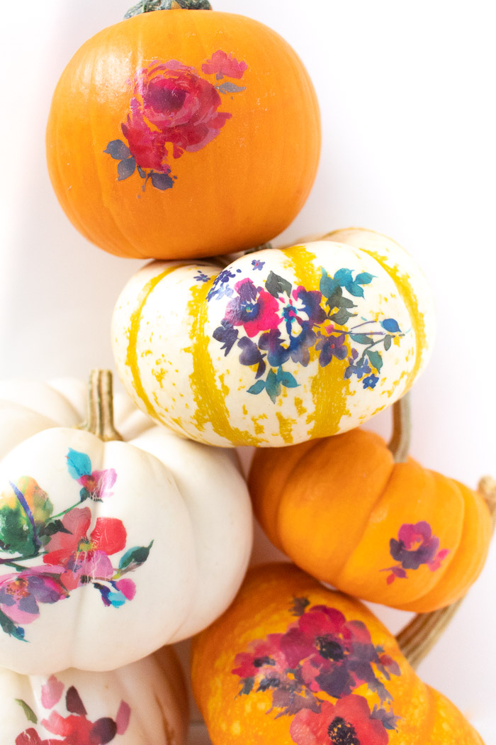 DIY Temporary Tattoo Pumpkins for Fall | Club Crafted