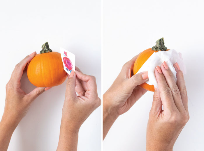 DIY Temporary Tattoo Pumpkins for Fall | Club Crafted