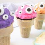 EYEscream Cone Cupcakes