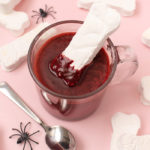 Marshmallow Bones + Bloody Red Velvet Hot Chocolate