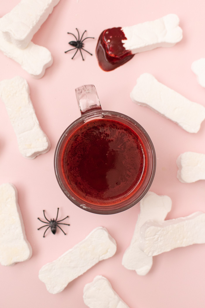 Marshmallow Bones + Bloody Red Velvet Hot Chocolate | Club Crafted