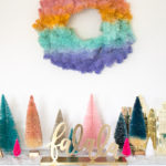 DIY Gradient Wreath for the Holidays