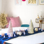 Simple Mercury Glass Tablescape for Holiday Gatherings
