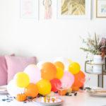 Pumpkin + Balloon Centerpiece for Fall Entertaining