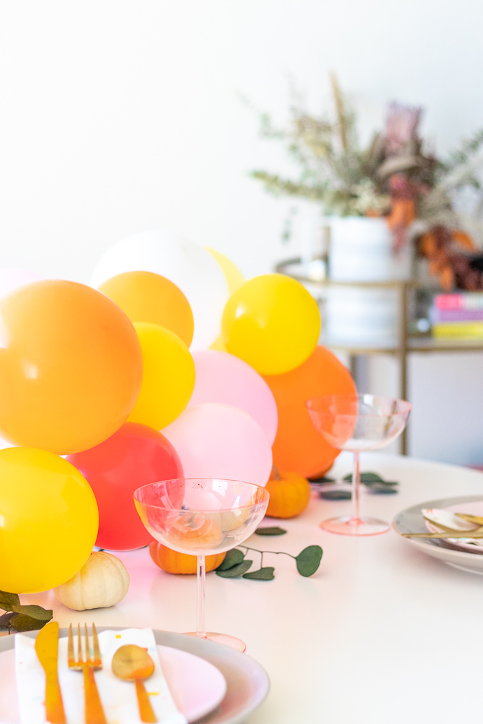 DIY Pumpkin & Balloon Centerpiece for Entertaining | Club Crafted