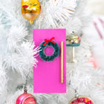 DIY Colorful Door Ornament for Christmas